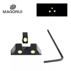Pistol Night Vision Optics Mechanical Sight Green Luminous Glow For Glock