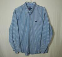 Ralph Lauren Chaps Mens Long Sleeve Oxford Button Down Dress Shirt Size LARGE L