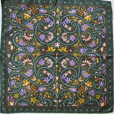-Superbe grand Foulard EMANUEL UNGARO 100% soie  TBEG vintage scarf