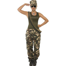 Female Soldier Costume Army Costume Khaki S 36/38 Uniform American Army Suit USA