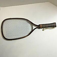 New listing Leach Racket Ball Racket Marty Hogan AC-250 Leather Grip Made in USA