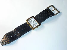 vintage MONTRE watch CLUB Q plaquée OR uhr SWISS MADE design RECTANGLE