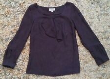 VERONIKA MAINE Long Sleeved Blouse size 8 - Dark Navy