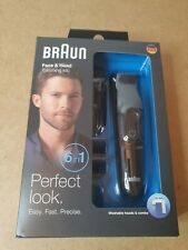 BRAUN 6 in1 Face & Body Cordless Multi Groomer Rechargeable Hair Trimmer MGK3020