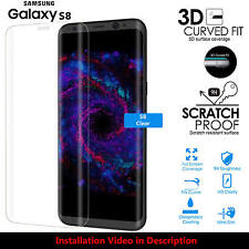 Full Screen Coverage Tempered Glass Screen Protector For Samsung Galaxy S8 CLEAR