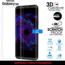 Cobertura de pantalla completa Protector de Pantalla de Vidrio Templado para Samsung Galaxy S8 claro