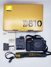 Nikon D810 36.3MP Digital Camera Body & Extras *MINT* 894 SHUTTER SHOTS!