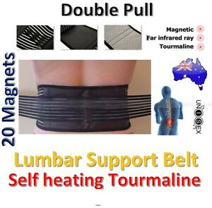 Tourmaline Self Heating 20 MagneticTherapy Lower Lumbar Waist Back Support Belt