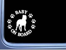 "Baby on Board Argentine Dogo L537 6"" Sticker dog decal"