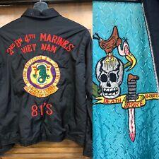 Vintage 1960'S Vietnam Skull & Condor Souvenir Tour Jacket -Original-