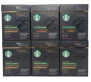 STARBUCKS Verismo DECAF Espresso Roast Pods Dark Roast 72 ct. Best By 2/24/2020