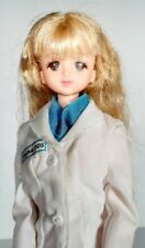 Takara Licca Chan Doll With Long White Coat Japan