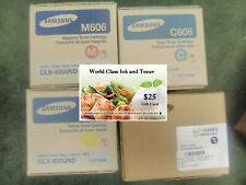 Samsung 606S Value Pack (4) HIGH YIELD B/C/M/Y CLX-9350 Series +FREE GIFT CARD
