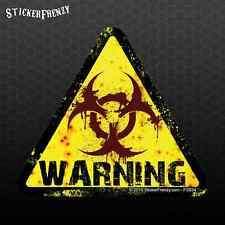Tri Warning Biohazard Sticker - Danger Vinyl decal Bumper car truck #FS934