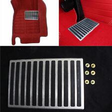 Nonslip Steel Rubber Car Floor Carpet Mat Cover Heel Scuff Plate Foot Rest Pedal