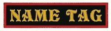 """12 Custom NAME TAG 4"""" X 1"""" Embroidered Patch"""