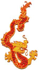 DRAGON ART in oranges EMBROIDERED IRON-ON PATCH *Free Ship* p3294 karate kung fu
