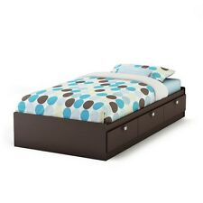 South Shore Spark Twin Mates Bed (39'') with 3 Drawers, Chocolate