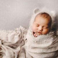 Newborn Baby Girl Boy Beaded Ripple Crochet Wrap Swaddle Photography Photo Props