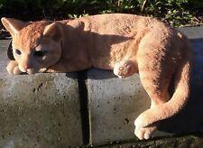 Laying Ginger Cat Vivid Arts Garden Ornament Indoor/Outdoor £29.99