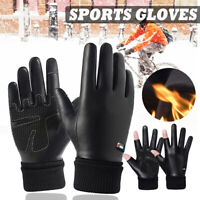 Winter Warm Thermal Leather Gloves Ski Snowboard Cycling Waterproof Touchscreen