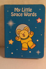 """My Little Space Words 1995 Two-In-One Books Small 3"""" Board Book"""