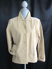 Rampage brown beige leather suede sexy satin lined blazer  jacket SIZE L large