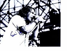 PEARL JAM SIGNED EDDIE VEDDER PHOTO 8X10 B&W   EXTREMELY RARE! WOW! L@@K PROOF!