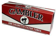 50 Boxes GAMBLER Regular Red Full Flavor King Size Filter Tubes/200ct per Carton