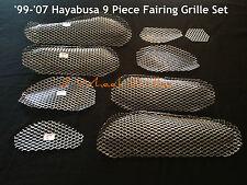 2005 SUZUKI HAYABUSA GSXR 1300 CHROME FAIRING GRILLS SCREENS VENTS MESH GRATES