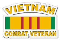 "Vietnam Combat Veteran 5.5"" Window Sticker Decal 'Free Shipping'"