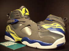 Nike Air Jordan VIII 8 Retro GS COOL GREY VIOLET BLUE YELLOW WHITE 580528-038 7Y