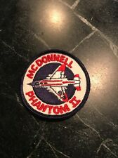 "Rare Vtg Orig Vietnam Cold War 70s McDonnell F4 Phantom II Fighter Patch 3"" USAF"