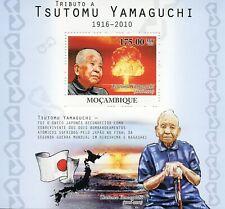 Mozambique Military Stamps 2010 MNH WW2 WWII Tsutomu Yamaguchi Atom Bomb 1v S/S