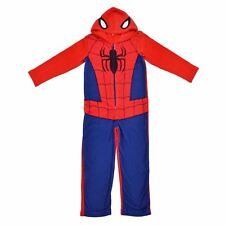 d8a25a2aaef6 Fleece Onesie Marvel Spiderman Sleepsuit Pyjamas Boys Kids Bedtime PJs  Dress up Age 10-11