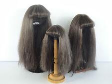 PERRUQUE 100% cheveux naturels T7 (28.5cm) pour POUPEE ANCIENNE - G. BRAVOT