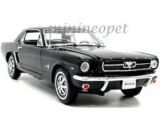 WELLY 12519 1964 1/2 FORD MUSTANG HARD TOP 1/18 DIECAST MODEL CAR BLACK