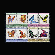 St Lucia, Sc #731-34, MNH, 1985, Butterflies, Insects, Cpl. Set, A5RRD-A