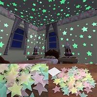 EG _ 100/40 St.3D fluoreszierend Sterne Decke Wand Sticker Wohndeko faddish