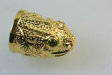 More details for frog gold plated silver 925 thimble