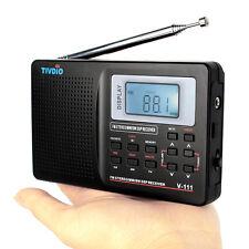 Portable DSP FM Stereo/MW/SW/TV Radio World Band Receiver Digital Alarm Clock BC