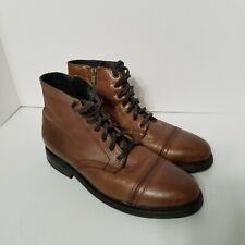 Thursday Boot Company Mens Major Walnut Size 8 Brown Side Zip Lace Ups Cap Toe