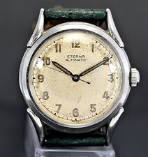 Vintage ETERNA Bumper Automatic Cal.1158, steel 33mm, radium dial, 40's watch