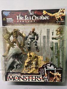 "Todd McFarlane's MONSTERS Series 2 ""The SEA CREATURE"" Playset 1998 New Halloween"