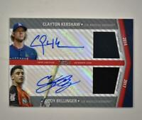 2020 Update All Star Stitch Dual Auto Relic Clayton Kershaw Cody Bellinger 6/10