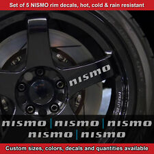 Nismo rim decal sticker adhesive all nissans 5 DECALS wheels  2.5srt SILVER