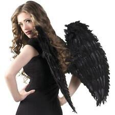 ENGELSFLÜGEL Erwachsene schwarz 65 cm Große Flügel mit Federn Engel Vampir