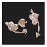 Ohrstecker Rosé vergoldet mit Zirkonia 1 Paar 925 Silber Ohrringe