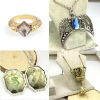 Lord Voldemort Horcrux Set 4PCS Sorcerer Stone Ring Diadem Cup Slytherin Locket
