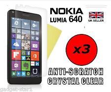 3x Hq Cristal Clair Protecteur d'écran Cover Film Garde pour MICROSOFT LUMIA 640
